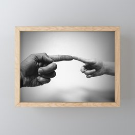 Father and Child Photographic Motif Framed Mini Art Print