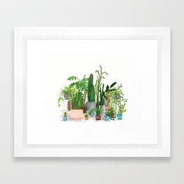 Plant Family Portrait Framed Art Print