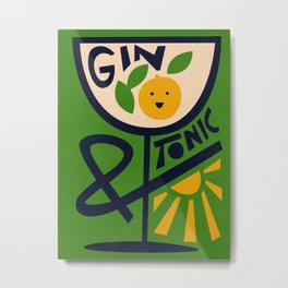 Gin & Tonic Metal Print