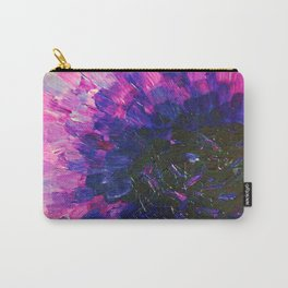 VACANCY - LIMITLESS Bold Eggplant Plum Purple Abstract Acrylic Painting Floral Macro Colorful Void Carry-All Pouch