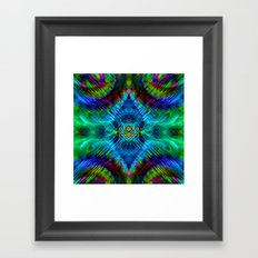 psychedelic blue green Framed Art Print