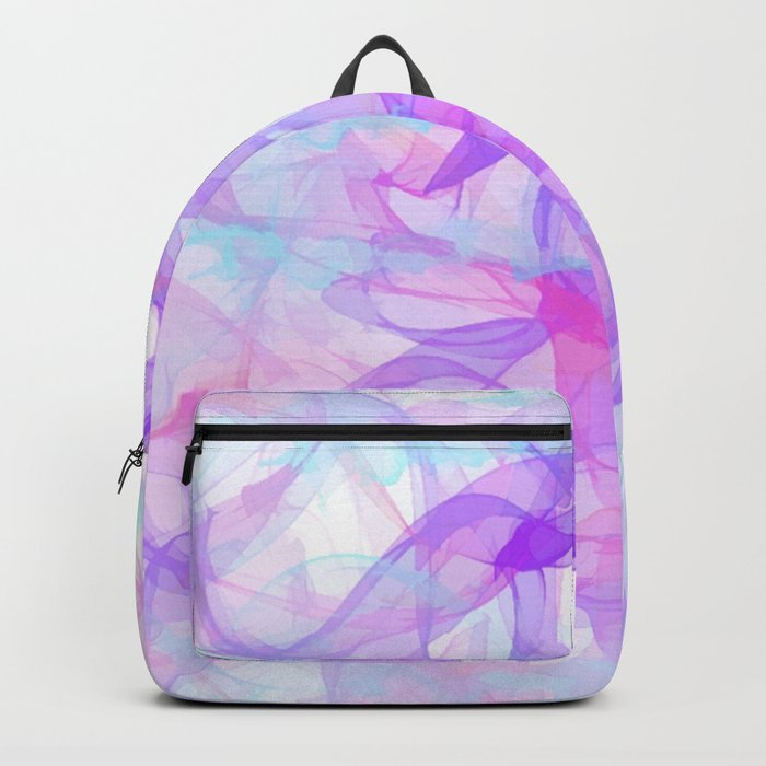 Soft Veils Of Color Abstract Backpack