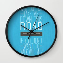 "Tegan and Sara ""Now I'm All Messed Up"" Lyric Art Wall Clock"