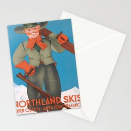 Affiche northland skis   super quality - super performance  Stationery Cards