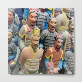 Terracotta Warriors Reproductions Metal Print