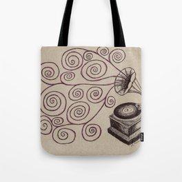 Music Spiralling Tote Bag