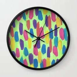 Spring Rain Drops Abstract Wall Clock