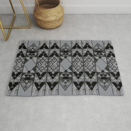Kupe Black Geometric Rug