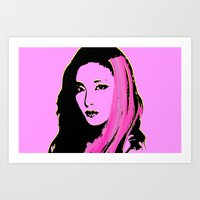 2ne1 Art Prints featuring Sandara Park (Dara - 2NE1) by Hileeery
