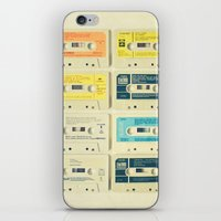 orange iPhone & iPod Skins featuring All Tomorrow's Parties by Cassia Beck