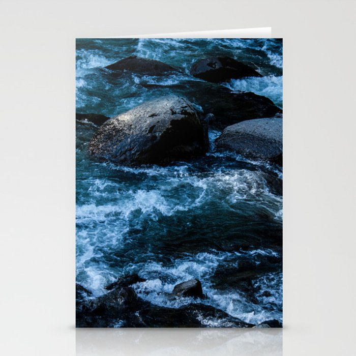 Like Stones Under Rushing Water Stationery Cards