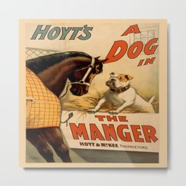 Vintage poster - A Dog in the Manger Metal Print