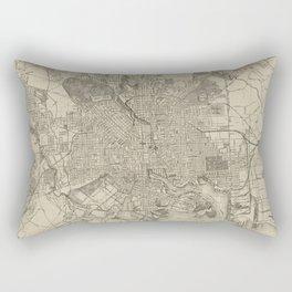 Vintage Map of Baltimore MD (1919) Rectangular Pillow