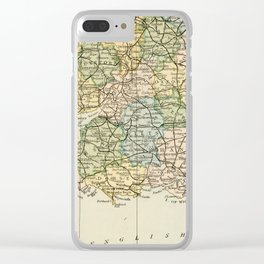 England and Wales Vintage Map Clear iPhone Case