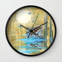 Nature Reflected Series: Speckled Plover Wall Clock