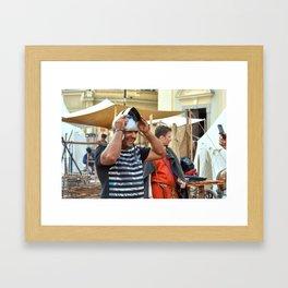I'm Prettier With A Helmet, Am I? Framed Art Print