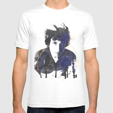 bob dylan White Mens Fitted Tee MEDIUM