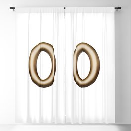Chocolate Number 0 Blackout Curtain