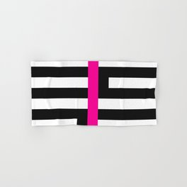 Licorice Bytes, No.17 in Black and Pink Hand & Bath Towel