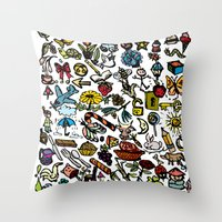 the 100 Throw Pillows featuring 100 things by Michelle Behar