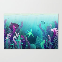 Deep down in the water Canvas Print