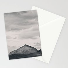 Mountain Peak and Plateau Black and White Stationery Cards
