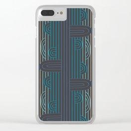 art deco stripe Clear iPhone Case