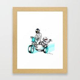 A Daft Punk Getaway Framed Art Print
