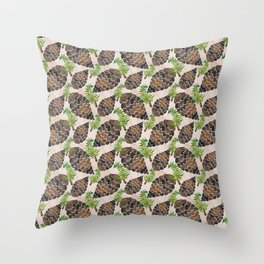Watercolor Pine Cone Pattern Throw Pillow