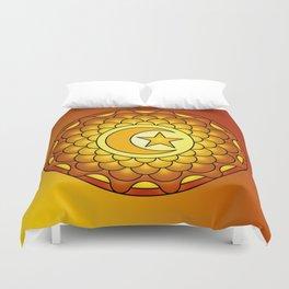 Sunset mandala Duvet Cover