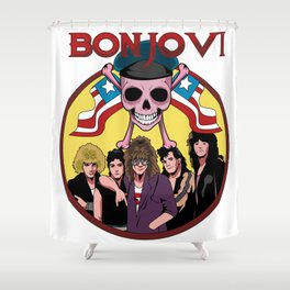 Skullet: Bon Jovi Shower Curtain