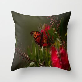 Autumn Buterfly Throw Pillow