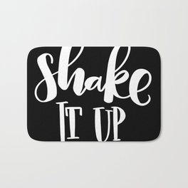 Shake It Up: black Bath Mat