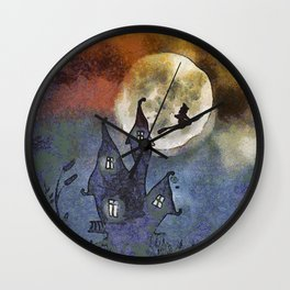 Halloween Horror Scene Wall Clock