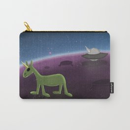 U.F.O. Unicorn Flying Object Carry-All Pouch