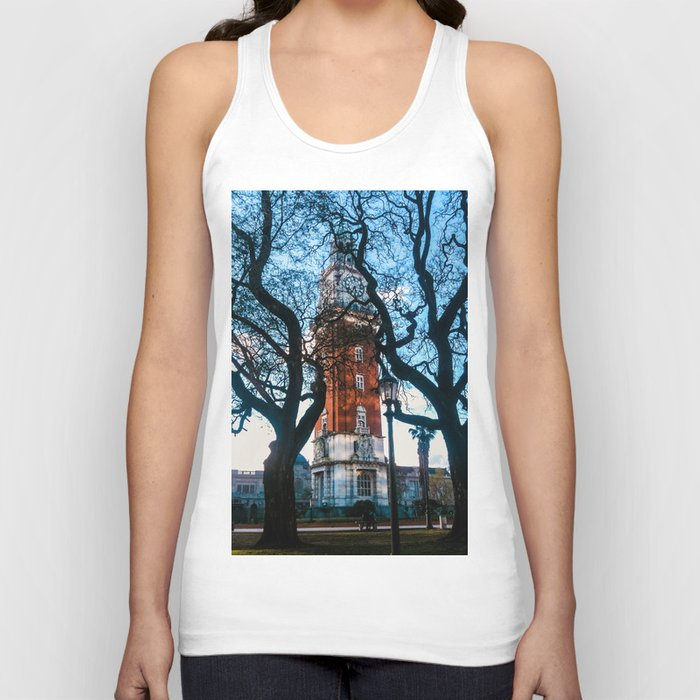 Building with Clock in Buenos Aires Unisex Tank Top