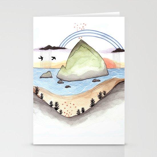Haystack Rock Stationery Cards