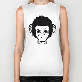 hipster monkey Biker Tank