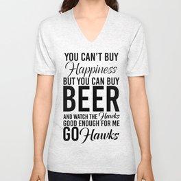 Hawks & Beer Unisex V-Neck