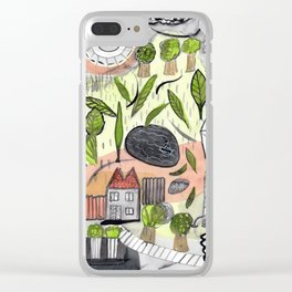 On a Stormy Day Clear iPhone Case