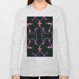 Song for Haromony - Traditional Shipibo Art - Indigenous Ayahuasca Patterns Long Sleeve T-shirt