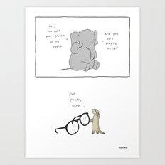 Elephant Glasses Art Print