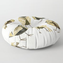 24-Karat Goldfinches Floor Pillow