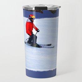 Winter Run - Downhill Skier Travel Mug
