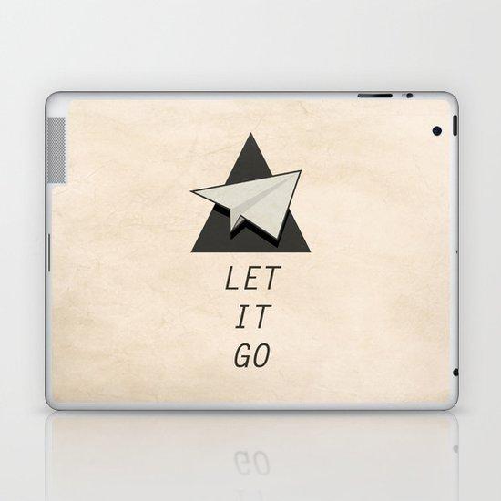 Let It Go Quotes Paper Plane Laptop & iPad Skin