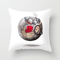 globe Throw Pillows featuring globe by Paradox