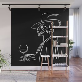 Abstract retro portrait of man Wall Mural