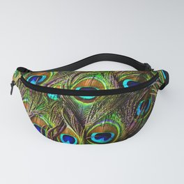 Peacock Feathers Invasion - Wave Fanny Pack