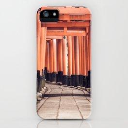 Fushimi Inari Taisha Torii Gates in Kyoto, Japan Photography iPhone Case