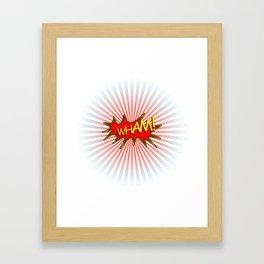 Wham explosion Framed Art Print